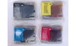 Sæt LC 970 BK,C,M,Y, kompatible patroner, 4 stk.