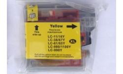 LC 1100 Y, gul, kompatibel patron