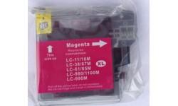 LC 1100 M, rød, kompatibel patron