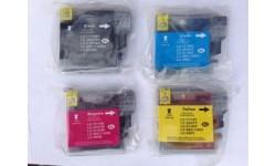 Sæt LC 980 BK,C,M,Y, kompatible patroner, 4 stk.