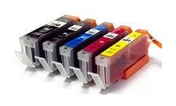 1 sæt (5 stk.) PGI 550XL BK, CLI 551XL BK,C,M,Y,  kompatible patroner m/chip